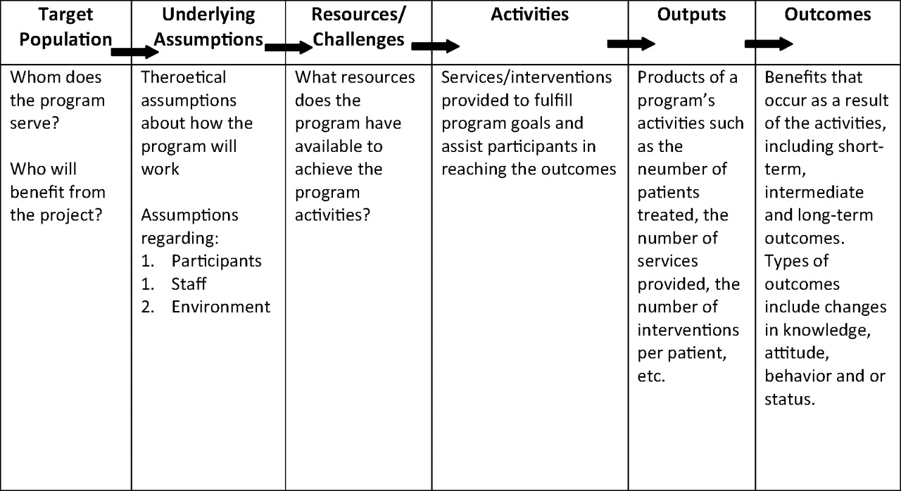 A Logic Model Framework For Evaluation And Planning In A