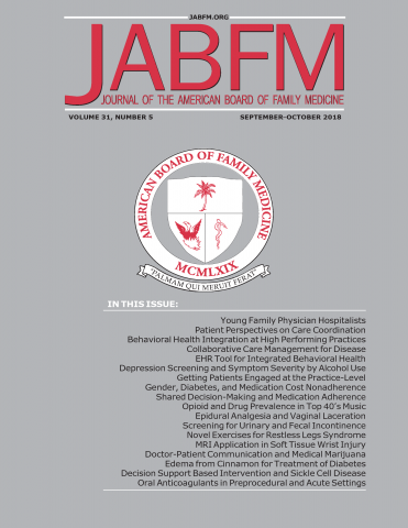 The Journal of the American Board of Family     Medicine: 32 (5)