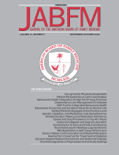 The Journal of the American Board of Family Medicine: 19 (1)